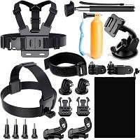 ZFY Комплект принадлежностей спортивной камеры для GoPro Hero 6/5/4 / 3+ / 3/2/1 / SJ4000 / SJ5000 Цветной