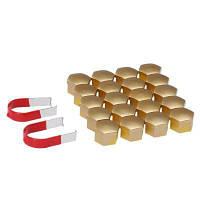 17-миллиметровые универсальные хромированные пластиковые колпаки для колесных дисков с крышкой для болтов-20 шт. Золотой