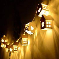 1.5M СИД Сердце Тип Декоративный Свет Свет Дом Shaped Лампа ночи спальни 10PCS Белый