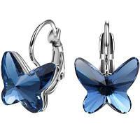 T400 2377 Стильные серьги из сплава для женщин с бабочками Тёмно-синий