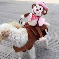 Lovoyager LVH16622 Необычное платье Pet Cowboy Monkey Wear Style Knight Harness Vest Dog Puppy Cat Costume XL