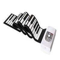Iword S2090 Ручной ролл Фортепиано Гибкий Roll Up 88 клавиш Клавиатура Портативный силиконовый фортепиано Силиконовая клавиатура: 125X13.3X0.9 см