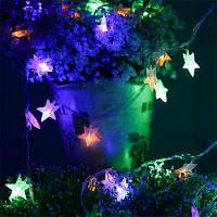 BRELONG Водонепроницаемый 4m 28LED Рождественский Декоративный Свет Строка RGB EU Plug AC220-240V-Звезда RGB