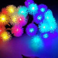 BRELONG Водонепроницаемая светодиодная гирлянда 4м 28 светодиодов рождественский декоративный свет RGB ЕС штепсельная вилка AC 220-240В-мяч с дизайном
