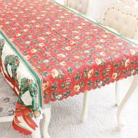 XM 1шт Рождественская творческая скатерть из ткани с узором рождественских венков из сосновых веток праздничные украшения