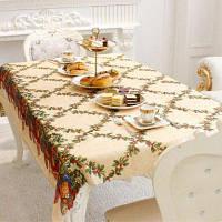 XM 1шт Рождественская творческая скатерть из ткани с рождественском стиле праздничные украшения