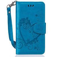 На главную Отказ от ответственности Сердечный цветок Кошелек Кожаный подставка для сотового телефона с магнитом для Samsung Galaxy S5 Mini Синий