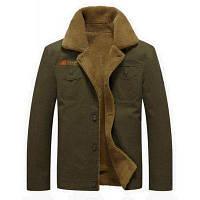 Мужская повседневная повседневная легкая осенняя зимняя руновая куртка с твердой подставкой с длинным рукавом XL