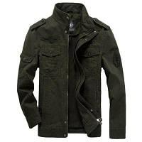 Мужская повседневная повседневная простая зимняя куртка с твердой подставкой с длинным рукавом XL