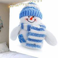 Водонепроницаемый Настенный Гобелен С Узором Снеговика Рождества ширина59дюймов*длина51дюйм