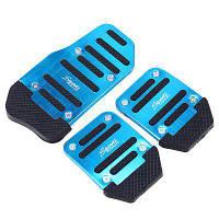 3шт / набор Автомобильные педали газа универсальные профессиональные прочные декоративные автомобильные педали Синий