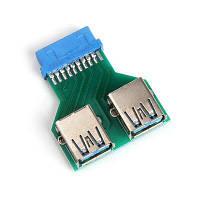 20-Пин к двлйному USB3.0 порту конвертер плата адаптера Зелёный