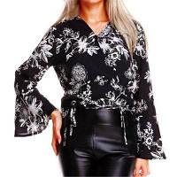 V Шитье Рога Рубашки Блузка M