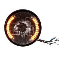 YKT-AB036 7-дюймовый светодиодный индикатор поворота фар мотоцикла Чёрный