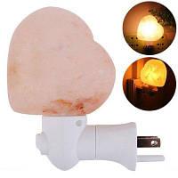 YouOKLight 7W Теплая, белая состоящая из (соли) лампа в форме сердца для украшение стен Night Light 120V 1PC Тёплый белый
