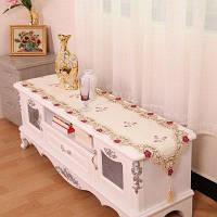 Домашний декор сатинированный вышитый стол бегун 40*200CM