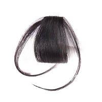 Короткая Чёлка Из Человеческих Волосов С Висками Чёрный