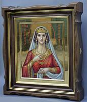 Киот для иконы Святой Вирсавии фигурный, с внутренней деревянной рамой и золочеными штапиками., фото 3