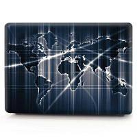 Компьютерная оболочка для ноутбука Кейс-клавиатура для MacBook Pro 15,4-дюймовый сенсорный экран 2016 3D Aurora World Map Чёрный