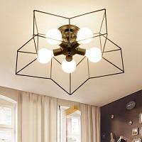 JUEJA Современное минималистическое железо потолочное освещение 100-240V Чёрный