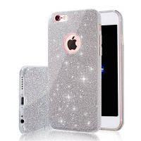 Мода Роскошный защитный гибридный красоты Кристалл Rhinestone Sparkle Блеск жесткой обложки диаманта для iPhone 6s / 6 Plus Серебристый