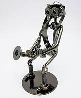 "Техно-арт статуэтка из металла ""Саксофонист"""