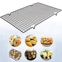 Nonstick Cooling Rack Применить прохладно Печенье Торты Хлеб Печь Сейф для приготовления жареной гриль Чёрный