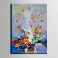 E-дома абстрактные картины холст Декор стены настенной росписи часы Цветной