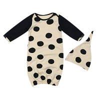 2шт Новорожденные Детские Дети с длинным рукавом, сшивающие черные комбинезоны 90
