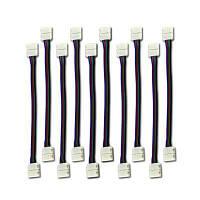 4-контактный коннектор для KWB LED SMD5050 RGB световой полосы соединительная перемычка 10мм 10шт Цветной