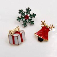 Рождественский Колокольчик Подарок Снежинка Брошь Набор Зелёный