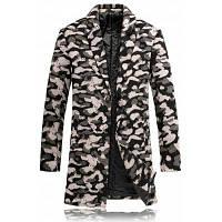 Леопардовое Шерстяное Пальто На Подкладке С Лацканами XL