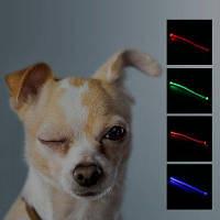 Yeshold мигающий LED ошейник для собак безопасность ночной ходьбы-s код Красный