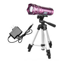 HKV 5W Focusing Профессиональный ночной фонарик для рыбалки Blue Light White Lamp Lights Lights Фиолетовый