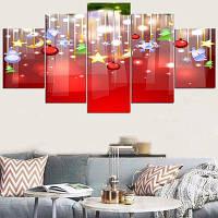 Рождественские висячие украшения шаблон стены стикеры 1штука :8*20,2 штуки :8*12,2 штуки :8*16 дюймов( бес канта )