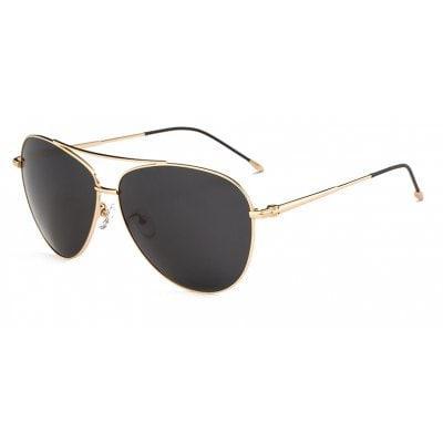 Поляризационные солнцезащитные очки от TOMYE 3035 Classic Metal Aviator для  мужчин золотой+серый - ➊ТопШоп 6cf613390a0
