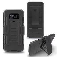 Корпус для Samsung Galaxy S8 с подставкой Back Cover Armor Hard PC Чёрный