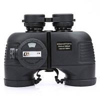 Kinglux Optics 7x50мм водонепроницаемый противотуманный военный бинокль с внутренним дальномером и компасом Чёрный