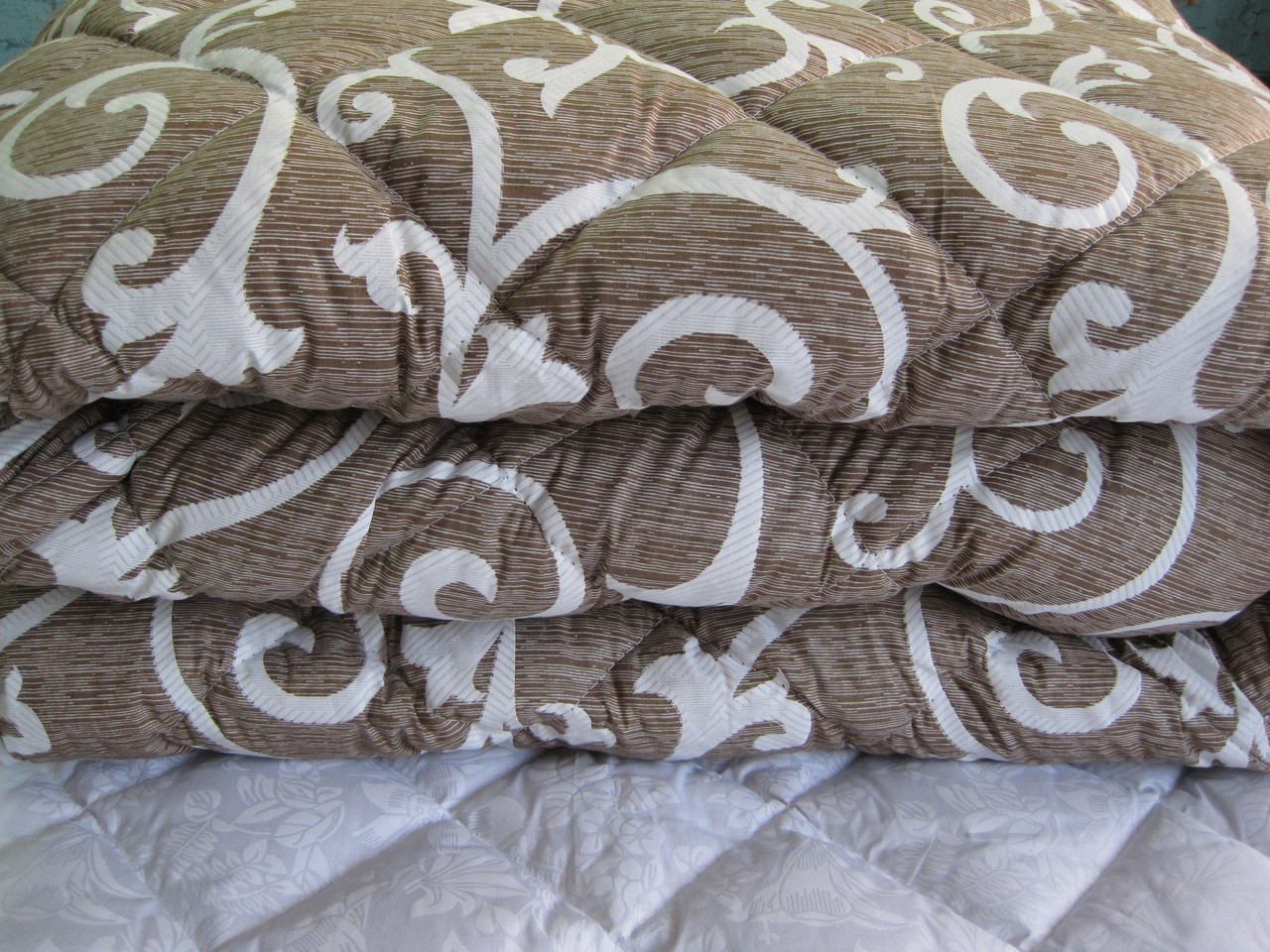Теплое одеяло силиконовое двуспальное Евро 200*210 (ткань хлопок)