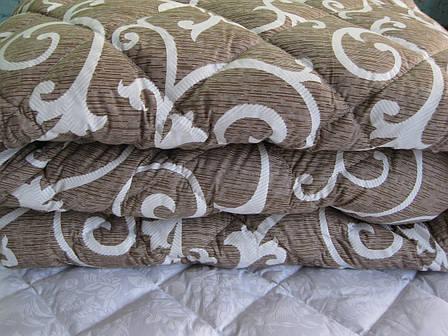 Теплое одеяло силиконовое двуспальное Евро 200*210 (ткань хлопок), фото 2