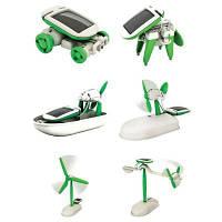 Образования солнечной энергии 6-в-1 Ассамблеи головоломки игрушки комплект зеленый и белый