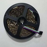 1шт 5м 16.4FT RGB гибкая светодиодная лента 300SMD 5050 не водонепроницаемая DC 5В черная печатная плата Разноцветный