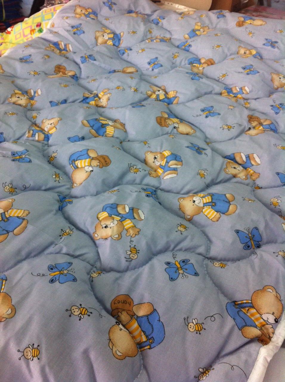 Одеяло для младенцев 110*140 (100% хлопок, шерсть голд)