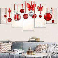Рождественские висячие блесна Pattern Split Wall Art наклейки 1штука :8*20,2 штуки :8*12,2 штуки :8*16 дюймов( бес канта )