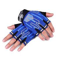 CTSmart 017 пара перчаток с открытыми пальцами унисекс Синий