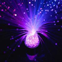 Волоконно-оптический светлый цвет Изменение кристаллической основы 13-дюймовый светильник новизны настроения RGB