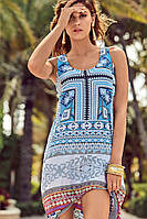 Летние платье сарафан с принтом David DB8-025 42(S) Голубой