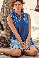 Синее пляжное платье с рисунком David DB8-038 42(S) Синий David DB8-038