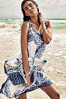Белое женское платье с принтом Iconique IC8-073 42(S) Белый Iconique IC8-073