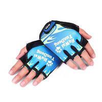 CTSmart 012 пара ветрозащитных перчаток с открытыми пальцами унисекс Синий и Зеленый